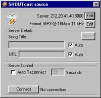 Общий вид Shoutcast Plug-in
